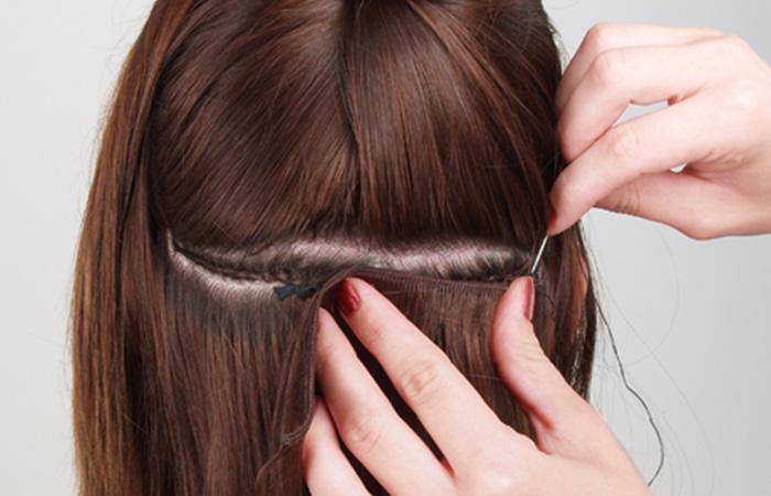 kıvırcık saça kaynak uygulaması