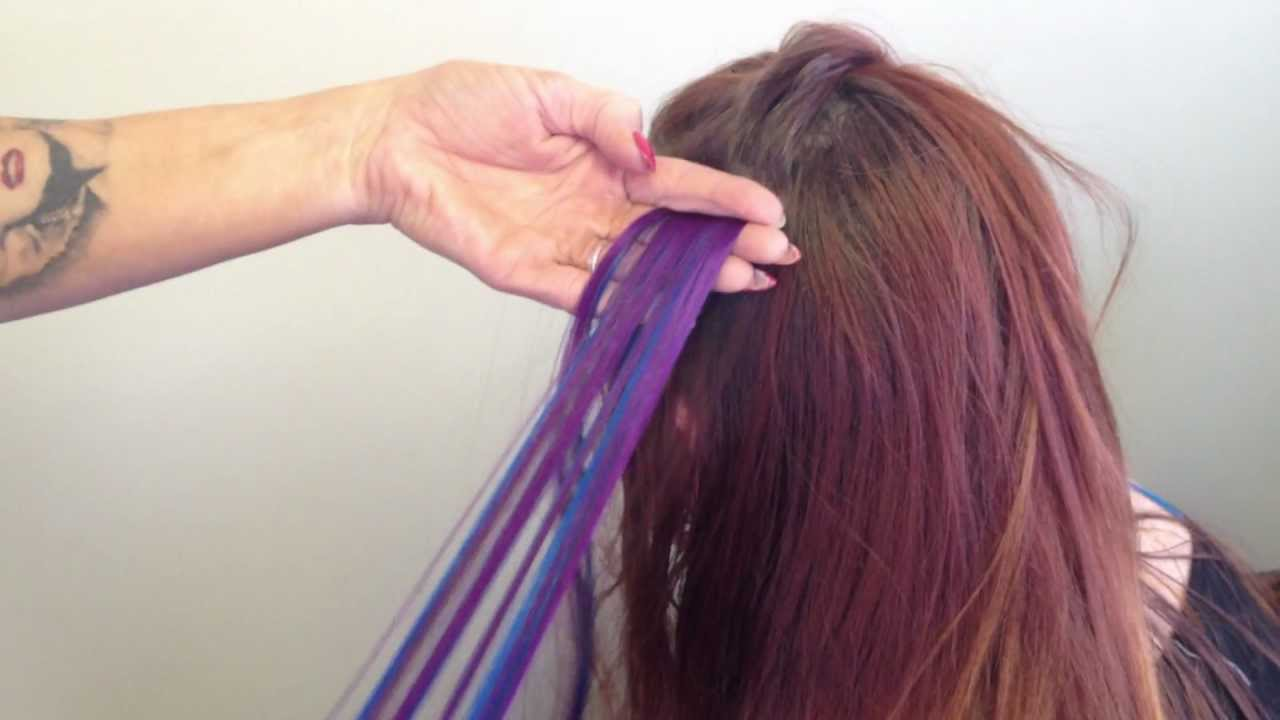 renkli kaynak saç nasıl takılır